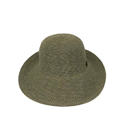 - Crushable Half Turn Brim Olive One Size Fits Most Hand Dyed Cotton Blend Sun Hat