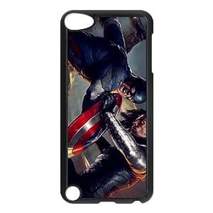 Custom Design ZH-1 Movie Captain America Black Print Hard Shell Case for iPod Touch 5th