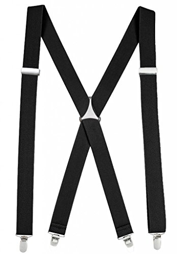 Hold'Em Suspender for Men Made in USA X-Back - Black (Regular 46