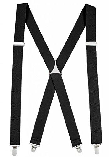 Hold'Em Suspender for Men Made in USA X-Back - Black (Tall, 54