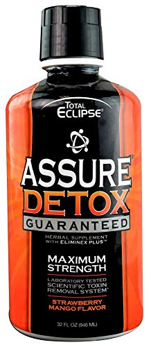 10 Pack - Total Eclipse Assure Detox W/eliminex Plus 32 Fl Oz Strawberry Mango with Free Im Baked Bro and Doob Tubes Sticker by Total Eclipse