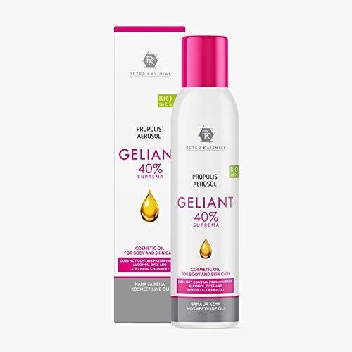 (Healing Propolis oil 40% Suprema Aerosol Line, Unique Formula, Powerful treatment for skin, 100% Natural/Bio,No Alcohol, Reduce skin moles,Acne,pimple, pigment spots (Propolis Geliant Aerosol 40%))
