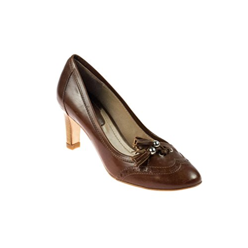 Lottusse Damen Pumps Leder Braun