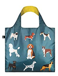 LOQI DO.WO Reusable Tote Bag, Woof Print, Multi, United States Carry-On