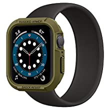 Spigen Rugged Armor Compatible con Apple Watch Funda para 44 mm Series 6/SE/5/4 - Verde Oliva