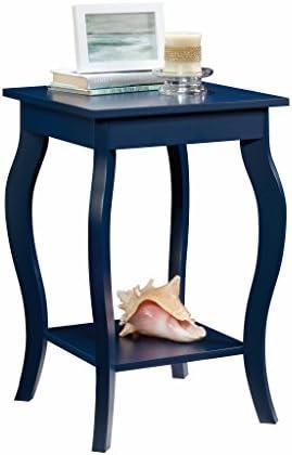 Sauder Harbor View Side Table, Indigo Blue finish