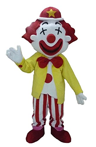 100% Real Photos Clown Mascot Costume Adult Fancy Party (Real Yeti Costume)
