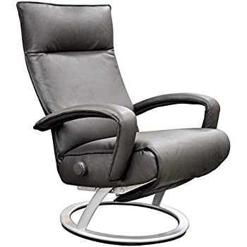 Gaga Grey Leather Adjustable Reclining Chair  sc 1 st  Amazon.com & Amazon.com: Gaga Grey Leather Adjustable Reclining Chair: Kitchen ...