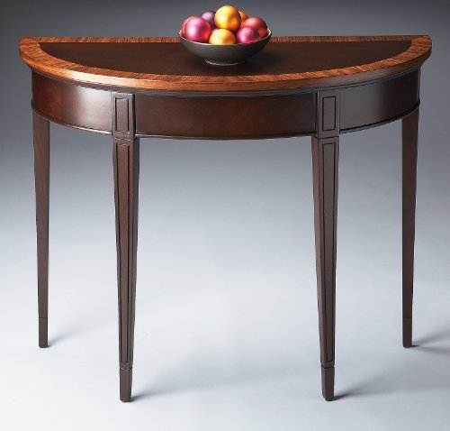Accent Furniture - Brazzaville Console Table - Accent Table - Cherry Nouvea (Kensington Cherry Desk)