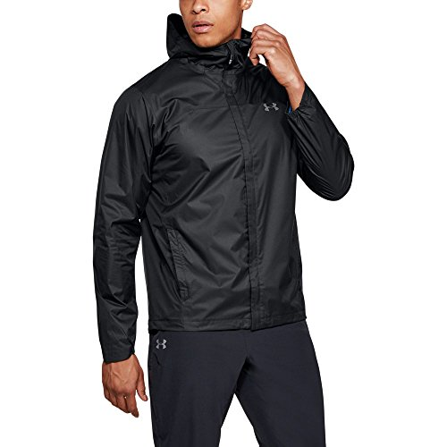 Under Armour Outerwear Men's UA Overlook Jacket, Black (001)/Graphite, Small