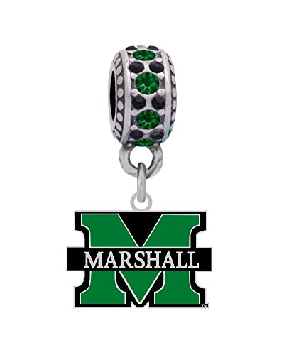 (Final Touch Gifts Marshall University Logo Charm Fits European Style Large Hole Bead)
