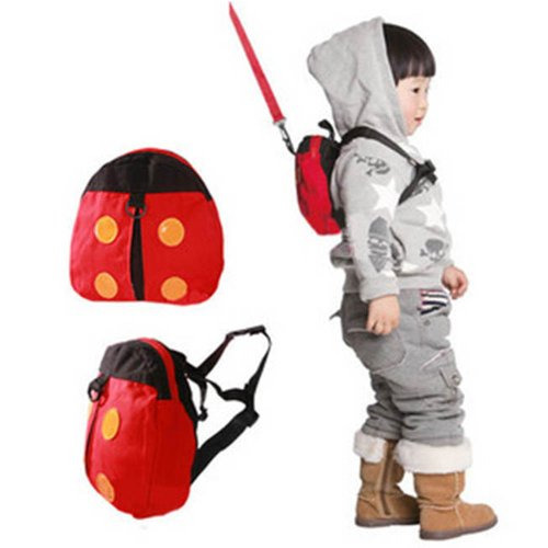 Ladybug Toddler Harness Backpack Knapsack