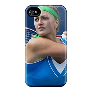 For Iphone 4/4s Premium Tpu Case Cover Petra Kvitova Protective Case