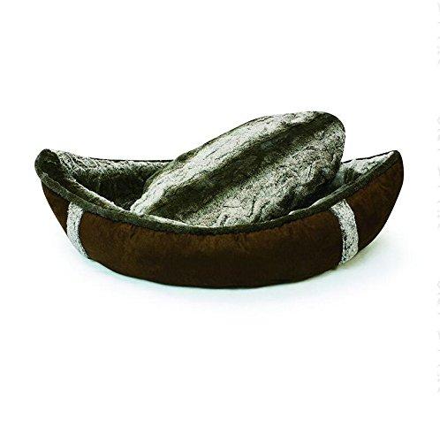 JOYELF Warm Dog Bed Cozy Canoe Shaped Sleeping Dog Bed Pirate Ship Premium Dog Kennel