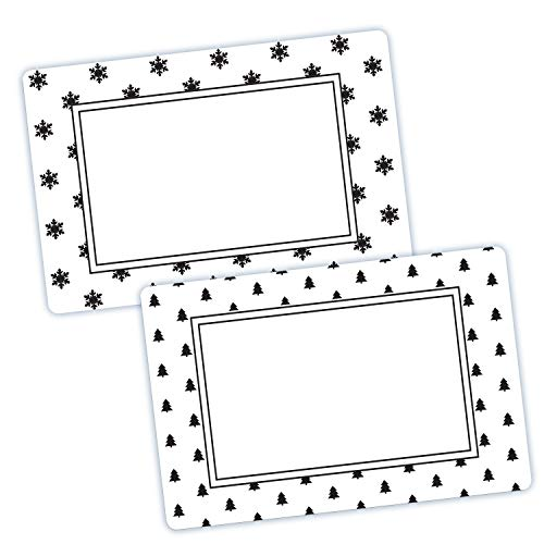 Avery Snowflake & Pine Tree Labels, 3