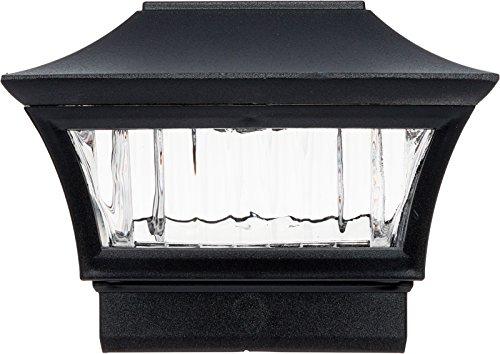 GreenLighting Aluminum Solar Post Cap Light 4x4 Wood or 5x5 PVC (Black, 4 Pack) by GreenLighting (Image #4)