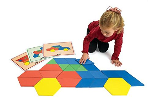 Excellerations Giant Foam Pattern Blocks - 149 Pieces (Item # BIGGEO) by Excellerations