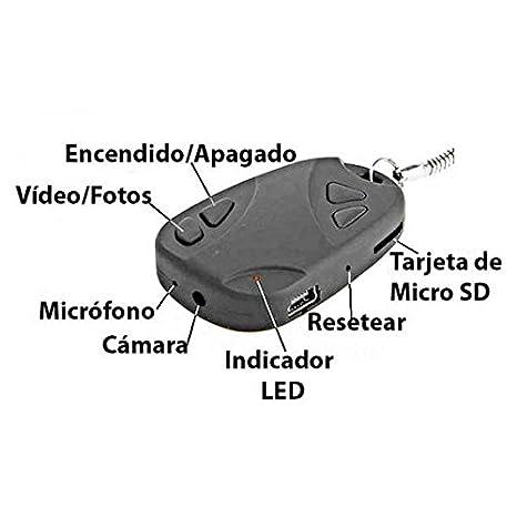 YATEK Llavero Mando Coche espia con cámara Oculta de Audio y ...