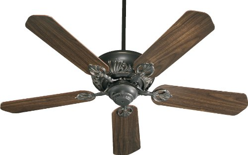 78525-95 Chateaux 5-Blade Energy Star Ceiling Fan with Reversible Blades, 52-Inch, Old World Finish by Quorum International