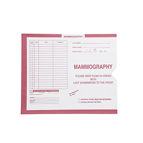 Mammography, Pink #190 - Category Insert Jackets, System II, Open End - 10-1/2'' x 12-1/2'' (Carton of 250)