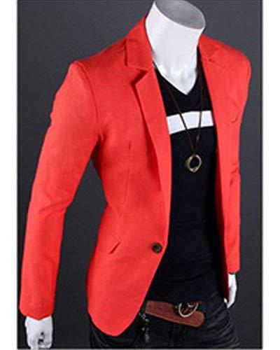 Arancia 1 Blazer Huixin Bottone Da Giacche Sportiva Slim Uomo Giacca Casual Fit Skinny 1p7vp6qw