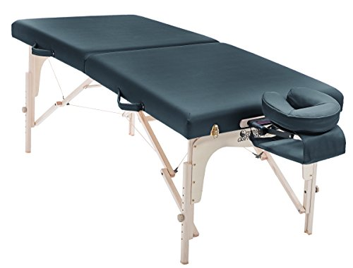 Custom Craftworks Simplicity Massage Table with PU Cushions, Black by Custom Craftworks