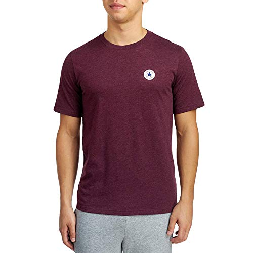 - Converse Core Mens Logo Chuck Taylor Crew Neck T-Shirt - Burgundy - L