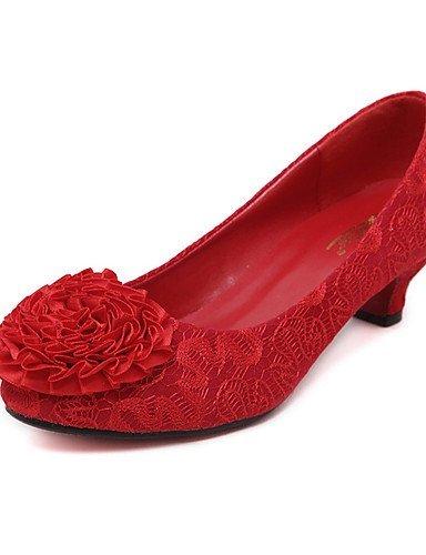 ShangYi Damen - Hochzeitsschuhe - Absätze / Rundeschuh - High Heels - Hochzeit / Kleid / Party & Festivität - Rot 1in