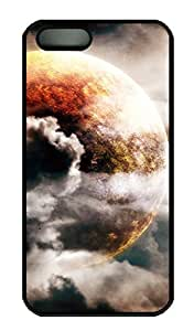 iPhone 5S Case, iPhone 5 Cover, iPhone 5S Planet In The Clouds Hard Black Cases