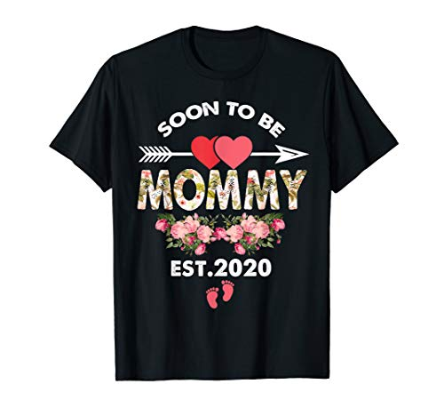 (Soon to be Mommy Est 2020 Floral Arrow With Heart)