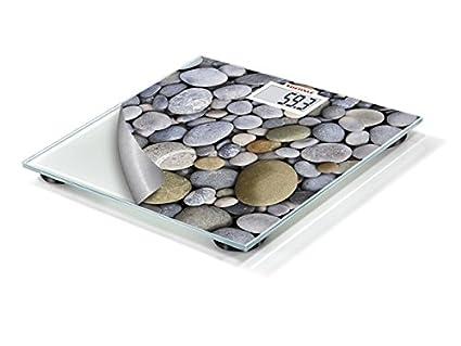 Soehnle 63349 - Báscula de baño digital, diseño con piedras