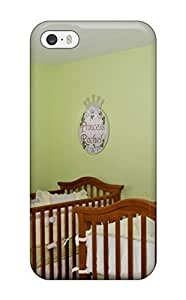 Craigmmons UAlXVjw10552EnfCe Case Cover Iphone 5/5s Protective Case Bold Green Nursery With Cribs For Both Boy And Girl