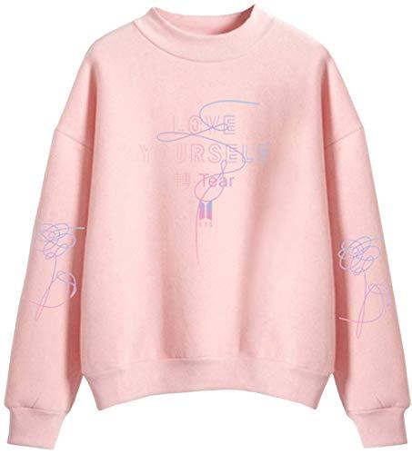 Ragazzi Per Uomo Pink E Girocollo 1 Maglione Alto A Sportiva Collo Oliphee Bts Maglieria zCn7qB88P