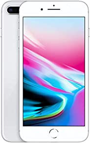 Apple iPhone 8 Plus (128GB, Silver) [Carrier Locked] + Carrier Subscription [Cricket Wireless] ($10/Month Amaz