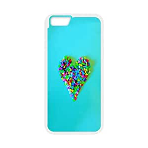 IPhone 6 Case Candy Heart, IPhone 6 Case Heart & Love, [White]