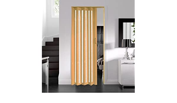 Dynasty interna PVC plegable Puerta de cristal, efecto de madera de roble 6 mm de grosor: Amazon.es: Bricolaje y herramientas
