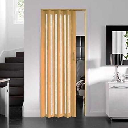 Dynasty Internal PVC Concertina Folding Glazed Door Oak Effect 6mm ...
