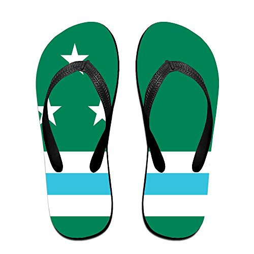Washington State Flag Comfortable Flip Flops For Children Adults Men And Women Beach Sandals Pool Party Slippers