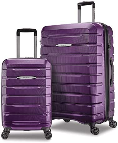 Samsonite Tech 2.0 Hardside Expandable Luggage with Spinner Wheels, 2-Piece Set (21/27), Purple