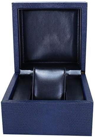 ZGQA-AOQ Simple Grids Coffret Montre de Stockage, Bijoux Organisateur Faux Cuir Montre Boîte de Rangement for Hommes Femmes