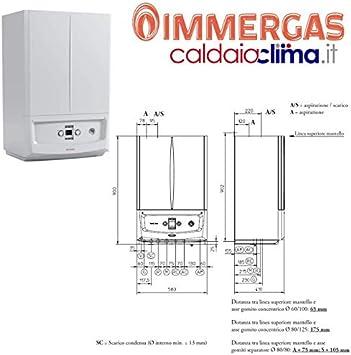 Immergas 3.028381 Victrix Zeus - Caldera de condensación, 25 kW, color blanco