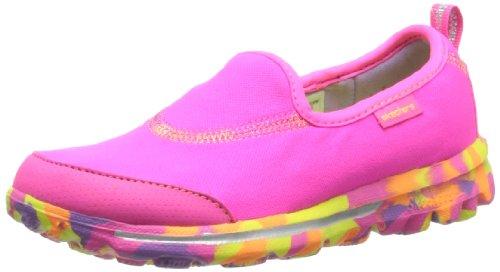 Skechers Kids 81029L GO Walk - Wavelength Athletic Sneaker (Little Kid),Neon Pink/Multi,12 M US Little Kid by Skechers
