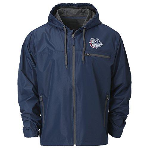 Ouray Sportswear NCAA Gonzaga Bulldogs Men's Venture Windbreaker Jacket, Depth, Medium ()