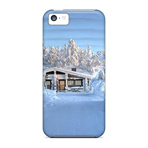 Cute Appearance Cover/tpu Snowed In Case For Iphone 5c
