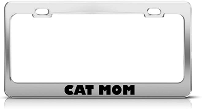 2 Pack CRUISER ACCESSORIES Chrome Plated Paw Prints License Plate Frame