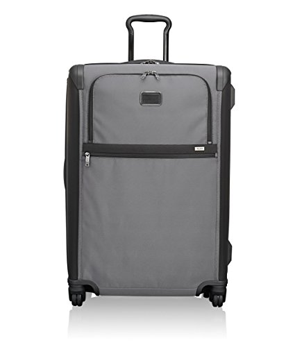 TUMI - Alpha 2 Medium Trip Expandable 4 Wheeled Packing Case Suitcase - Rolling Luggage for Men and Women - Pewter