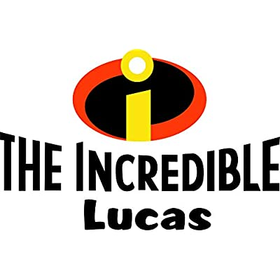 The Incredibles Personalized Custom Name Wall Decals Wall Design Stickers Vinyl Removable Children Kids Rooms Girls Boys Baby Nursery Cartoon Size 14x20 inch: Baby