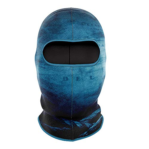 #1 Full Face Light Weight, Breathable Fishing Mask - UPF 50+ | No Fleece, Made for Sun and Wind Protection. (Blue Compass)