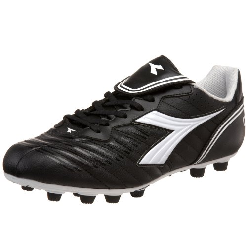 (Diadora Men's Scudetto LT MD PU Soccer Cleat,Black/White,11 M US)