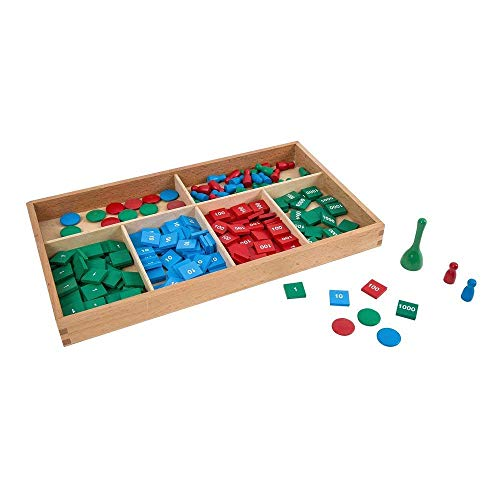LEADER JOY Montessori Math Materials Stamp Game for Preschool Early Learning Tool ()